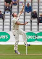 Rikki Clarke (Warwickshire County Cricket Club) in action during the LV County Championship Div 1 match between Durham County Cricket Club and Warwickshire County Cricket Club at the Emirates Durham ICG Ground, Chester-le-Street, United Kingdom on 14 July 2015. Photo by George Ledger.