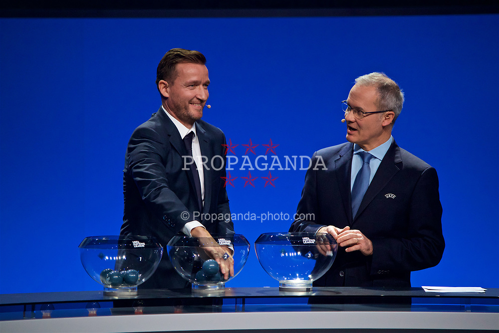 LAUSANNE, SWITZERLAND - Wednesday, January 24, 2018: Former Czech Republic and Liverpool player Vladimir Smicer during the draw for the new UEFA Nations League tournament at the SwissTech Convention Centre. (Pic by David Rawcliffe/Propaganda)
