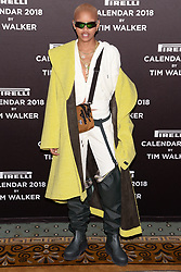 Slick Woods attends the photocell for The Pirelli 2018 Calendar by Tim Walker Launch Press Conference at the Pierre Hotel in New York, NY, on November 10, 2017. (Photo by Anthony Behar/Sipa USA)