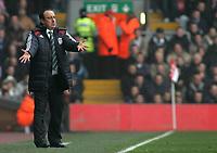 Photo: Paul Thomas.<br /> Liverpool v Everton. The Barclays Premiership. 03/02/2007.<br /> <br /> Rafael Benitez, Liverpool manager.