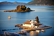 Greek Orthodox Convent of Vlachernas, Kanoni, Peninsula, Corfu Greek Ionian Islands .<br /> <br /> If you prefer to buy from our ALAMY PHOTO LIBRARY  Collection visit : https://www.alamy.com/portfolio/paul-williams-funkystock/corfugreece.html <br /> <br /> Visit our GREECE PHOTO COLLECTIONS for more photos to download or buy as wall art prints https://funkystock.photoshelter.com/gallery-collection/Pictures-Images-of-Greece-Photos-of-Greek-Historic-Landmark-Sites/C0000w6e8OkknEb8