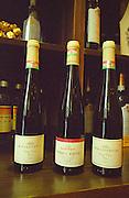 """Bottles of Kiralyudvar Tokaj wine in the Degenfeld shop in the village Tokaj: Tokaji Cuvée 2000 """"Ilana"""", Szepsy Tokaji Cuvée 2000, Kiralyudvar Cuvée Tokaji Cuvee Ilona 2000. Kiralyudvar (meaning """"King's Court"""")is run by Istvan Szepsy, considered maybe the best winemaker in Tokaj. he also makes Tokaj under his own name.  Credit Per Karlsson BKWine.com"""