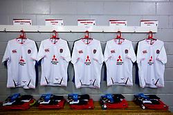 England U20 Changing room ahead of their Under 20s Six Nations fixture against Scotland U20 - Mandatory by-line: Robbie Stephenson/JMP - 07/02/2020 - RUGBY - Myreside - Edinburgh, Scotland - Scotland U20 v England U20 - Six Nations U20