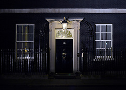 © Licensed to London News Pictures. 28/11/2012. Westminster, UK Number Ten Downing street pictured in the dark 28 November 2012. Photo credit : Stephen Simpson/LNP