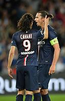 Zlatan Ibrahimovic (psg) - Edinson Cavani (psg)