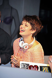 PIXIE GELDOF at an invitation-only acoustic performance by Rita Ora hosted by Calvin Klein Jeans at their Regent Street Store, London on 18th February 2013.