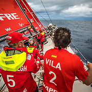 Leg 8 from Itajai to Newport, day 09 on board MAPFRE, Doldrums, getting into a squall. 30 April, 2018.