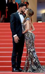 Nabilla Benattia and Thomas Vergara attending the Solo: A Star Wars Story premiere at the 71st Cannes Film Festival