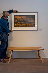 Pictured: Guy Peploe takes a break to enjoy Broken Trawler (1987) by Sylvia Wishart<br />