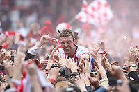 Football - The Championship - Southampton vs. Coventry City<br /> Southampton's Rickie Lambert gets carried back towards the changing room as Southampton clinch promotion to the priemier league
