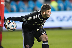 December 9, 2017 - Toronto, Ontario, Canada - Toronto FC goalkeeper ALEX BONO (25) throws the ball during the MLS Cup championship match at BMO Field in Toronto, Canada.  Toronto FC defeats Seattle Sounders 2 to 0. (Credit Image: © Mark Smith via ZUMA Wire)