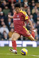 Photo: Gareth Davies.<br />Fulham v Reading. The Barclays Premiership. 25/11/2006.<br />Reading's Seol Ki-Hyeon.