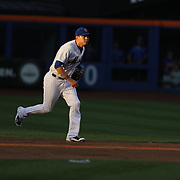 Wilmer Flores, New York Mets, fielding at second base in the early evening light during the New York Mets Vs Washington Nationals. MLB regular season baseball game at Citi Field, Queens, New York. USA. 1st August 2015. (Tim Clayton for New York Daily News)
