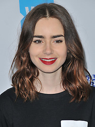 Lily Collins arrives at We Day California 2017 held at The Forum in Inglewood, CA on Thursday, April 27, 2017. (Photo By Sthanlee B. Mirador) *** Please Use Credit from Credit Field ***