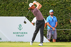August 26, 2018 - Paramus, NJ, U.S. - PARAMUS, NJ - AUGUST 26:  Tommy Fleetwood of England plays his shot from the 17th tee during the final round of The Northern Trust on August 26, 2018 at the Ridgewood Championship Course in Ridgewood, New Jersey. (Photo by Rich Graessle/Icon Sportswire) (Credit Image: © Rich Graessle/Icon SMI via ZUMA Press)