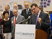 Houston ISD Superintendent Dr. Terry Grier comments during an Early Matters news conference during first day of school at Rodriguez Elementary School, August 25, 2014.