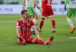 WOLFSBURG, Feb. 18, 2018  Bayern Munich's Sandro Wagner reacts after missing a scoring chance during a German Bundesliga match between VfL Wolfsburg and Bayern Munich, in Wolfsburg, Germany, on Feb. 17, 2018. Bayern Munich won 2-1. (Credit Image: © Shan Yuqi/Xinhua via ZUMA Wire)