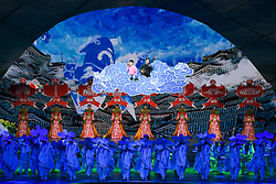 BEIJING, Aug. 30, 2019  An art performance is staged at the opening ceremony of the FIBA Basketball World Cup 2019 held at the National Aquatics Center (Water Cube) in Beijing, capital of China, Aug. 30, 2019. (Credit Image: © Shen Hong/Xinhua via ZUMA Wire)