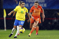 March 4, 2020, International Friendly: (l-r) Marta Vieira da Silva of Brazil Women, Sherida Spitse of Holland Women during the women's international friendly Tournoi de France match between The Netherlands and Brazil at Stade du Hainaut  on March 04, 2020 in Valenciennes, France (Credit Image: © Women: The Netherlands V Brazi/Hollandse-Hoogte via ZUMA Press)