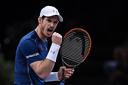 File photo - Andy Murray plays John Isner of the United States during the Mens Singles Final on day seven of the BNP Paribas Masters at Palais Omnisports de Bercy on November 6, 2016 in Paris, France. Murray has celebrated his impending rise to the world No 1 ranking with a 6-3 6-7(4) 6-4 victory to claim his maiden Paris Masters title and his eighth tournament win of the season. Andy Murray shocked the tennis world Friday morning in Melbourne when he announced his plans to retire this year during a tearful press conference ahead of the Australian Open. The former world No. 1 had hip surgery in January 2017 and says the pain has become too much to bear. Photo by Laurent Zabulon/ABACAPRESS.COM