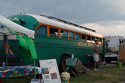 The Solar Bus at Twilight. Gathering of the Vibes 2010, Seaside Park, Bridgeport, Connecticut