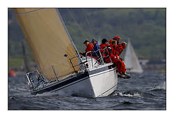Yachting- The first days inshore racing  of the Bell Lawrie Scottish series 2002 at Tarbert Loch Fyne. Near perfect conditions saw over two hundred yachts compete. <br />John Corsons Salamander an Elan 333 3335C<br />Class 3<br />Pics Marc Turner / PFM