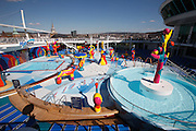 Royal Caribbean International's  Independence of the Seas, the world's largest cruise ship...Pool area