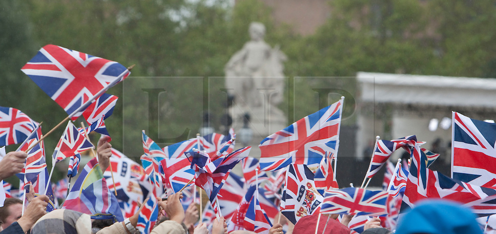 © Licensed to London News Pictures. 04/06/2012. London, UK. .Final Day of the Queens Diamond Jubilee..The Royal Jubilee celebrations. Great Britain is celebrating the 60th  anniversary of the countries Monarch HRH Queen Elizabeth II accession to the throne this weekend. Photo credit : Rich Bowen/LNP