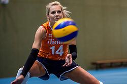 10-05-2018 NED: Training Dutch volleyball team women, Arnhem<br /> Laura Dijkema #14 of Netherlands