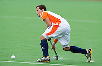 MELBOURNE -    Sander Baart aan de bal  tijdens de hockeywedstrijd tussen de mannen van Nederland en Belgie (5-4) bij de Champions Trophy hockey in Melbourne. ANP KOEN SUYK