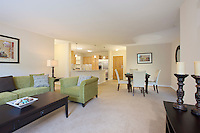 Interior Design image of the  Charlestown Senior Living Edgewood Apartment Building Model Unit in Catonsville, MD by Jeffrey Sauers of Commercial Photographics