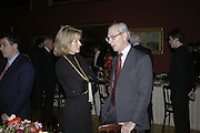 Alison Myners and Sir Tim Sainsbury, Hogarth private view and dinner. Tate Britain. London. 5 February 2007.  -DO NOT ARCHIVE-© Copyright Photograph by Dafydd Jones. 248 Clapham Rd. London SW9 0PZ. Tel 0207 820 0771. www.dafjones.com.