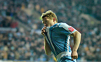 Photo: Leigh Quinnell.<br /> Coventry City v Ipswich Town. Coca Cola Championship.<br /> 19/11/2005. Gary McSheffrey kisses the badge to celebrate his goal for Coventry.