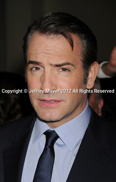 HOLLYWOOD, CA - JANUARY 28: Jean Dujardin arrives at the 64th Annual Directors Guild Of America Awards at the Grand Ballroom at Hollywood & Highland Center on January 28, 2012 in Hollywood, California.