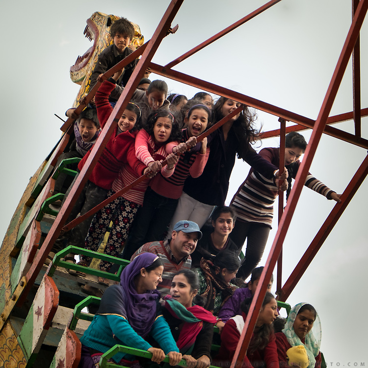 Himalayan country fair, attraction park in Gopeshwar. In the Himalaya.