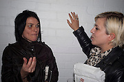 SUE WEBSTER; HANNA HANRA, David Salle private view at the Maureen Paley Gallery. 21 Herlad St. London. E2. <br /> <br />  , -DO NOT ARCHIVE-© Copyright Photograph by Dafydd Jones. 248 Clapham Rd. London SW9 0PZ. Tel 0207 820 0771. www.dafjones.com.