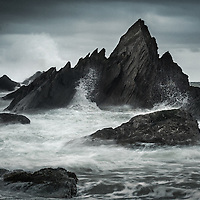 More from Tunnell Beaches in Ilfracombe (A couple of images stacked here to freeze a little bit of the spray)