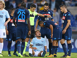 September 20, 2017 - Rome, Italy - Ciro Immobile of Lazio and Allan Loudeiro of Napoli  during the Serie A match between SS Lazio and SSC Napoli at Stadio Olimpico on September 20, 2017 in Rome, Italy. (Credit Image: © Matteo Ciambelli/NurPhoto via ZUMA Press)