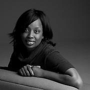 This studio shot portrays the friendly, elegance of Simone