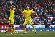 Alex Mowatt of Leeds United © reacts to missing a scoring chance. Skybet football league Championship match, Blackburn Rovers v Leeds United at Ewood Park in Blackburn, Lancs on Saturday 12th March 2016.<br /> pic by Chris Stading, Andrew Orchard sports photography.