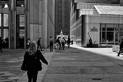 Wall trade center in New York, Manhattan - Mannlíf í New York