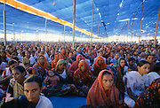 Indian farmers attending an agricultural conference in India