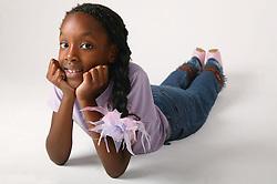 Young girl relaxing ,