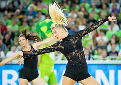 Cheerleaders perform during friendly basketball match between National Teams of Slovenia and Brasil at Day 2 of Telemach Tournament on August 22, 2014 in Arena Stozice, Ljubljana, Slovenia. Photo by Vid Ponikvar / Sportida