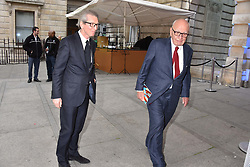 Left to right, David Montgomery and Rupert Murdoch at the Royal Academy of Arts Summer Exhibition Preview Party 2017, Burlington House, London England. 7 June 2017.