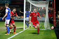 Goal celebration by Accrington Stanley forward Billy Kee (29) during the The FA Cup 3rd round match between Accrington Stanley and Ipswich Town at the Fraser Eagle Stadium, Accrington, England on 5 January 2019.
