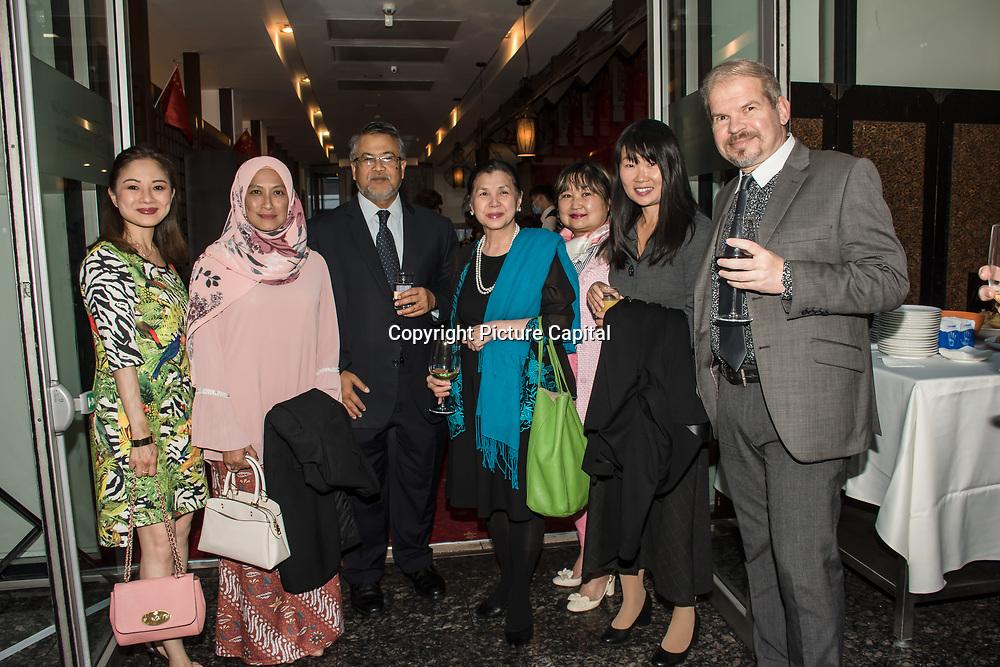 Mei Sim Lei hosts a Malaysian community, Welcome Malaysian High Commission His Excellency Zakri Jaafar and wife Madam Nor Aini Abdul Rahman at Bright Courtyard Club, London, UK. on 1st October 2021.