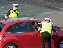 Police speed checks, Livingston, 28 May 2020<br /> <br /> Pictured: Police were checking speeding drivers and reasons for journeys during lockdown in Livingston this evening.<br /> <br /> Alex Todd | Edinburgh Elite Media