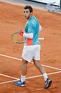 Hugo GASTON (FRA) celebrated point winned during the Roland Garros 2020, Grand Slam tennis tournament, on October 4, 2020 at Roland Garros stadium in Paris, France - Photo Stephane Allaman / ProSportsImages / DPPI