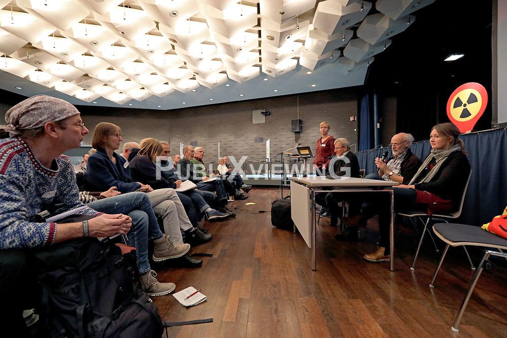 Die Anti-Atom-Initiativen .ausgestrahlt, Bürgerinitiative Lüchow-Dannenberg und AG Schacht Konrad veranstalten am 9. November 2019 die Alternative Statuskonferenz in Hannover. <br /> <br /> Ort: Hannover<br /> Copyright: Andreas Conradt<br /> Quelle: PubliXviewinG